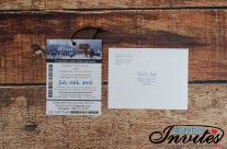 Ski pass wedding invitations to snow valley ski club, Edmonton
