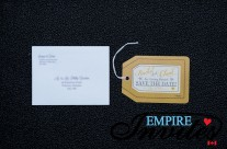 Tan Luggage tag save the dates to Grand Rose Hall, Jamaica