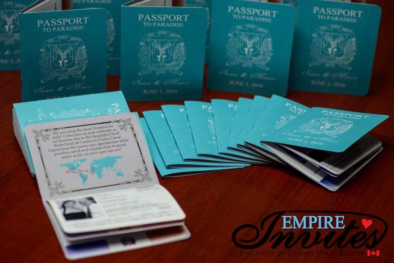 Custom Destination Passport Wedding Invitations From