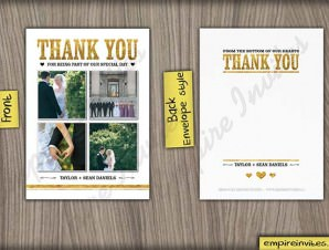 Wedding Thank You Card 29 – 1 or 4 photos