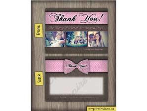Tiffany  –  Thank You Card 1
