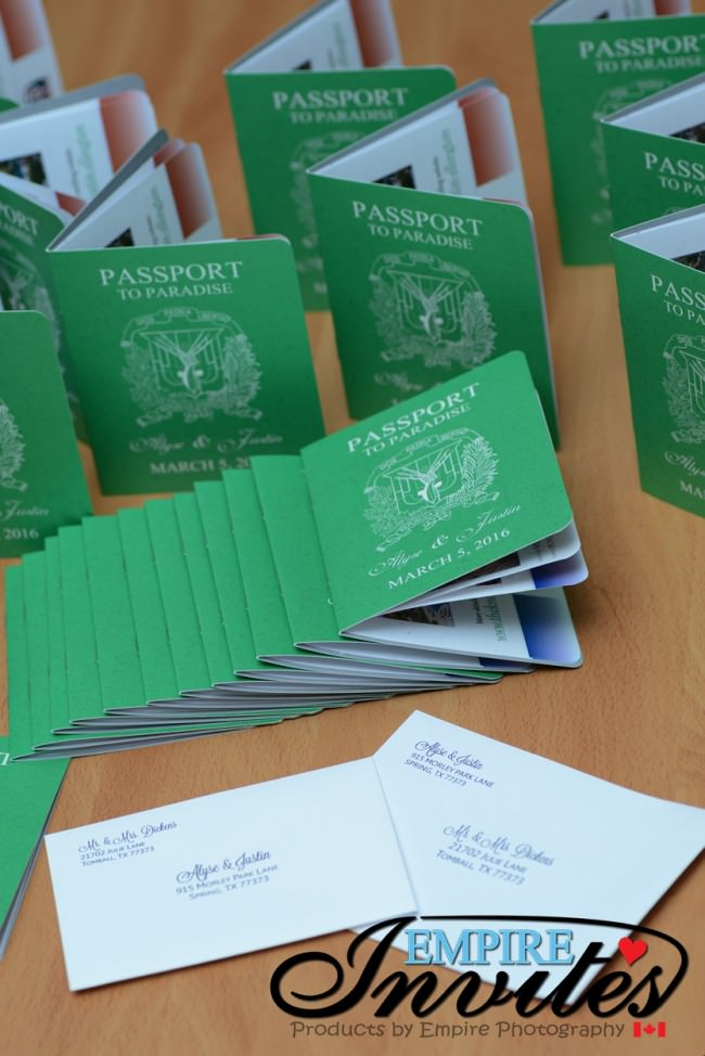 Vibrant green passport invitations to dreams palm beach (1)
