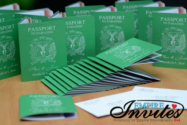 Vibrant green passport invitations to dreams palm beach (2)