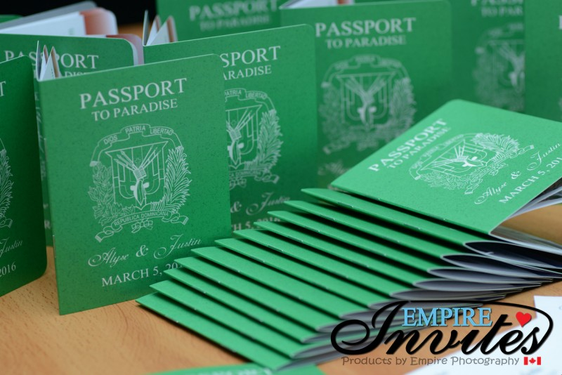 custom passport wedding invitations canada