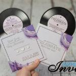 Vinyl Record invitations (4)