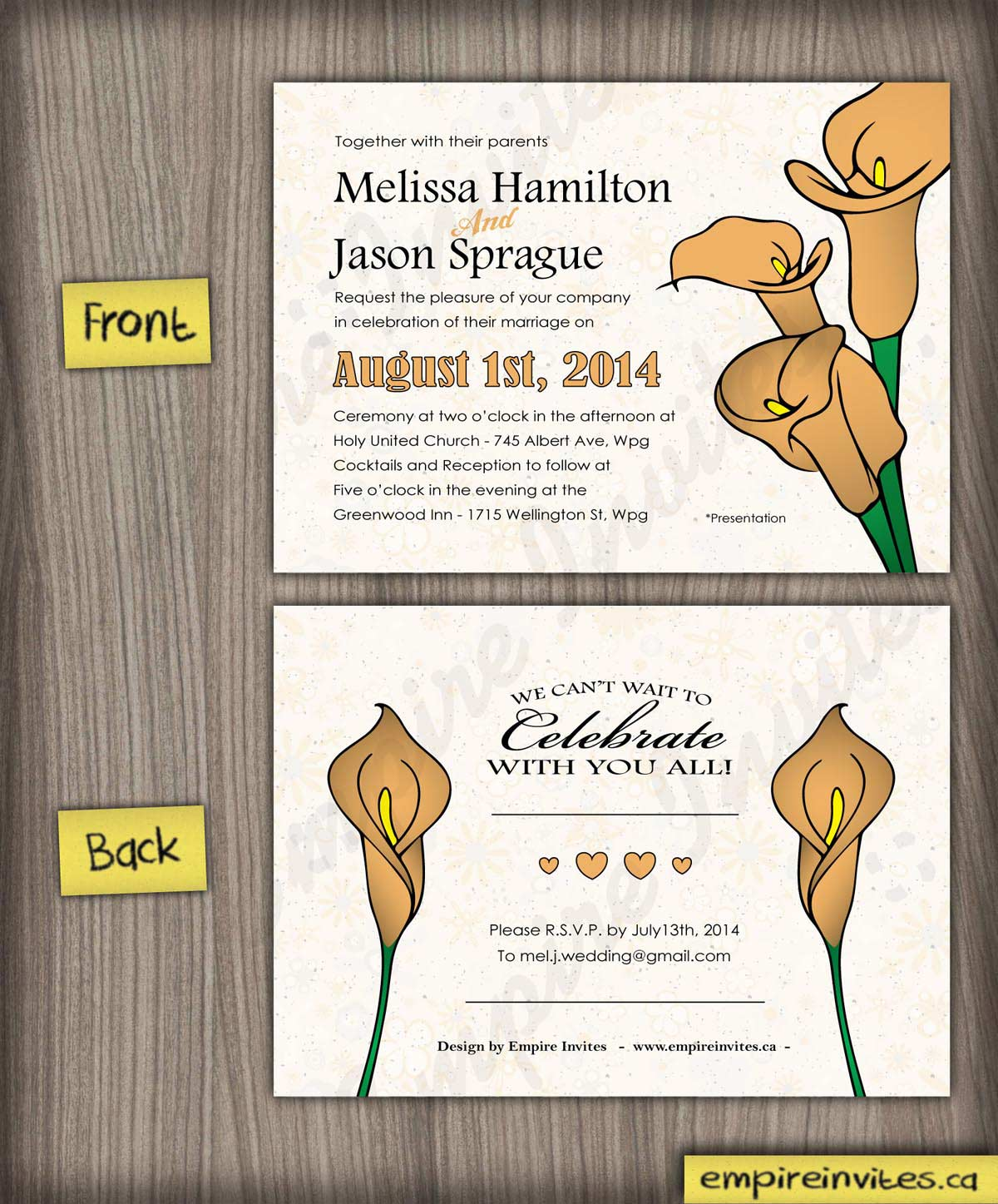 General Wedding Invite 26 | ---- EMPIRE INVITES ---- Winnipeg ...
