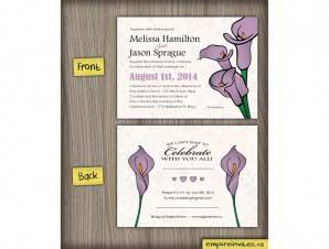 Calla Lily Wedding Invitation (#32)