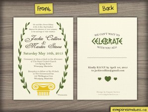 Greek Style Wedding Invitation (#38)