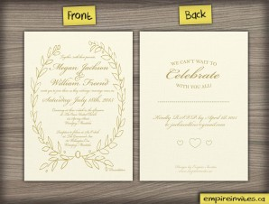 Greek Style Wedding Invitation (#40)
