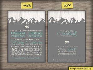 Mountain Range Wedding Invitation #41