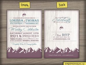 Mountain Range Wedding Invitation #42