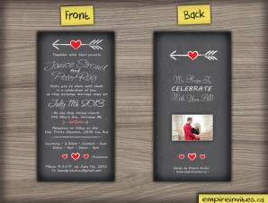 Whitehaven – Vertical Heart Wedding Invitation 2