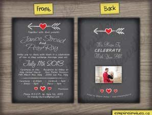 Whitehaven  –  Vertical Heart Wedding Invitation