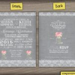 Willow mason jar wedding invitation