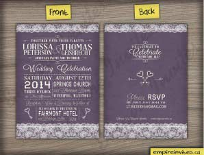 Willow – vintage lace wedding invitations