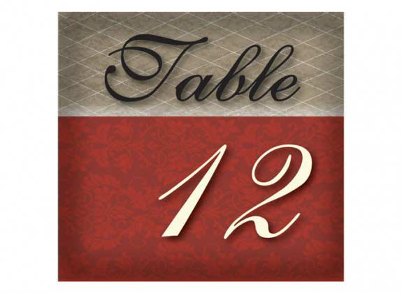 Allison     Table Numbers 5x4