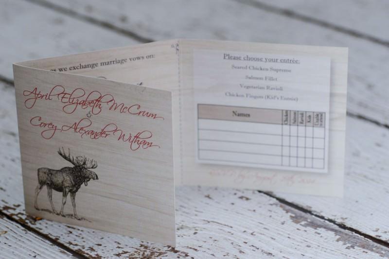 Custom Rustic Wedding Invitations From Winnipeg Canada