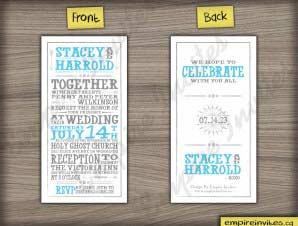 Birmingham  –  Vertical Wedding Invitation