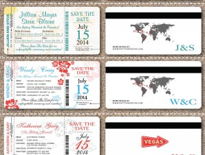 Boarding Pass Save The Date Ticket
