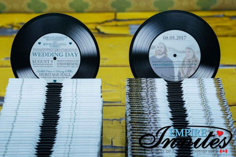 5″ Vinyl Record Music Wedding Invitations