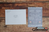 Grey Lace & Mason Jar wedding invitations