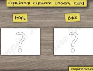 Custom Insert Card (RSVP| menu| map| hotel| etc)