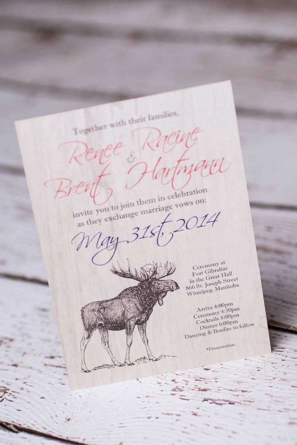 Custom Nature Rustic wedding invitations Canada | Empire Invites