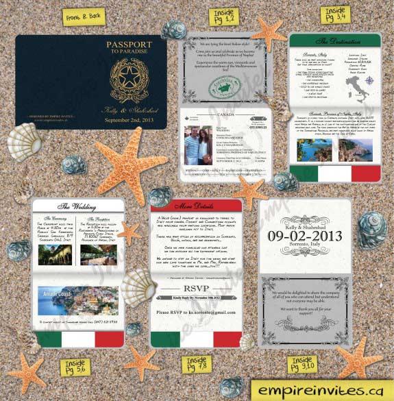 Edmonton Wedding Invitations: Custom Destination Passport Wedding Invitations From Winnipeg, Canada