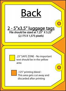 luggage tag back