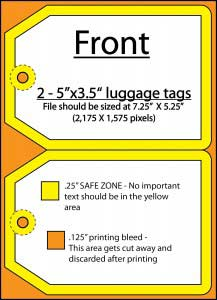 luggage tag front
