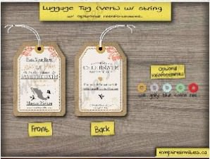 Luggage Tag Save The Date 1 – Destination / Invitations
