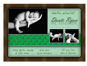 Newborn Announcement 2G