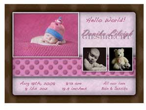 Newborn Announcement 2P