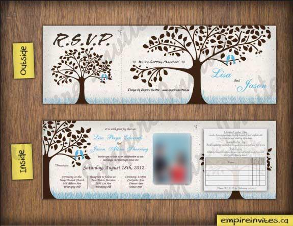 Oliver Wedding Invitations trees birds love bird wedding invitation