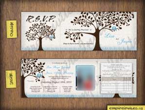 Oliver  –  5×5 Tri-Fold Love Bird Wedding Invitation