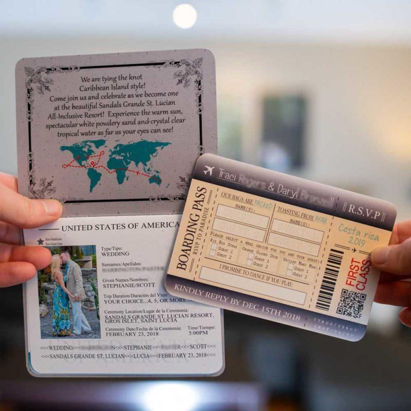 Custom Handmade Passport Wedding Invitations 6-page Canada