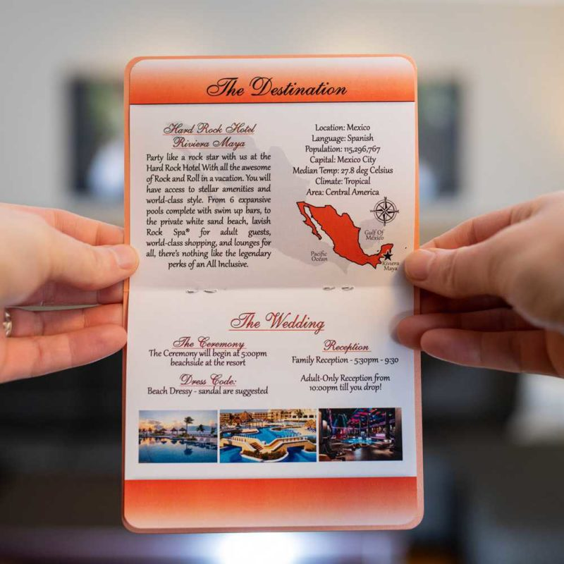 Custom Custom Passport Wedding Invitations 6-page Canada