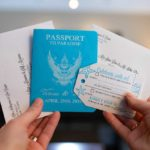 passport luggage tag and printed envelopes
