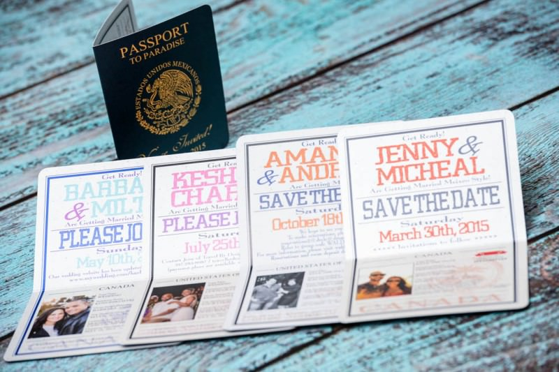 Custom destination save the date cards From Winnipeg, Canada ...