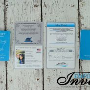 Pearl Blue Passport Invitations – Eastern Caribbean Cruise