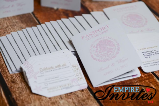 pink and gold passport wedding invites azul fives mexico (3)