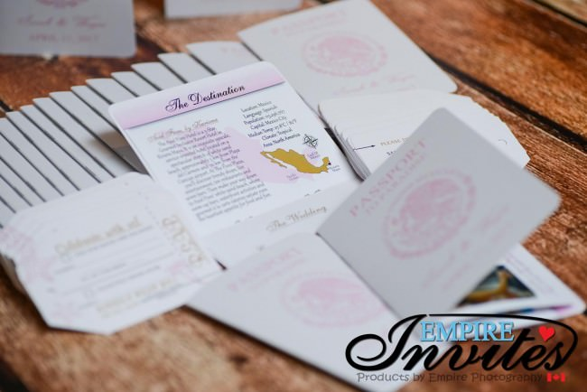 pink and gold passport wedding invites azul fives mexico (6)