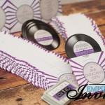 purple disco vinyl record wedding invites (2)