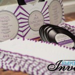 music themed wedding invitation