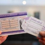 RSVP options Boarding pass or Luggage tag