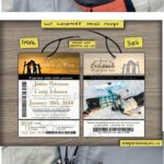 ski pass and lift ticket wedding invitations from canada