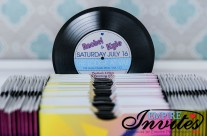 Retro Music Style Wedding Invitations