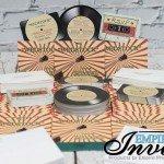vintage record wedding invitations  (1)
