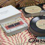 vintage record wedding invitations  (5)