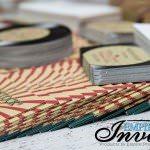 vintage record wedding invitations  (7)